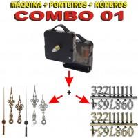 COMBO 01 - 20 Jogos de Máquinas de relógio c/ alça + Jg Pont Luiz Xv G + Nº Arábicos