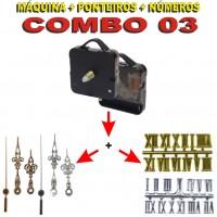 COMBO 03 - 20 Jogos de Máquinas de relógio c/ alça + Jg Pont Luiz Xv G + Nº Romanos