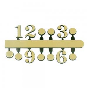 10 Jogos de números Arábicos Bolinha tam. único (14mm) - Cores Diversas