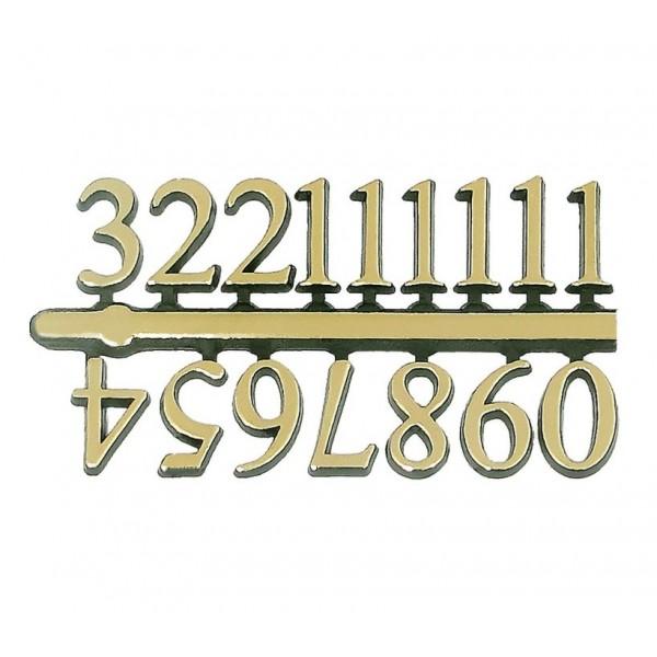 10 Jogos de números Arábicos GG (16mm) - Cores Diversas