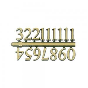 10 Jogos de números Arábicos P (10mm) - Cores Diversas