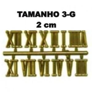 8 Jogos de números Romanos 3-G (20mm) - Cores Diversas