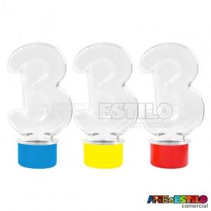 10 Baleiros modelo numero 3 ( três ) c/ tampa Só R$0,69 cada