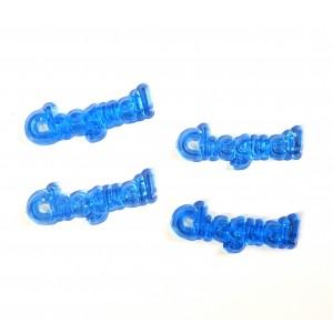 10 Plaquinhas De Acrilico Cheguei Azul