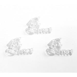 10 Plaquinhas De Acrilico 15 Anos Cristal