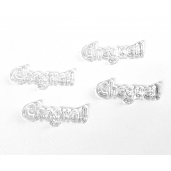 10 Plaquinhas De Acrilico Cheguei Cristal transparente