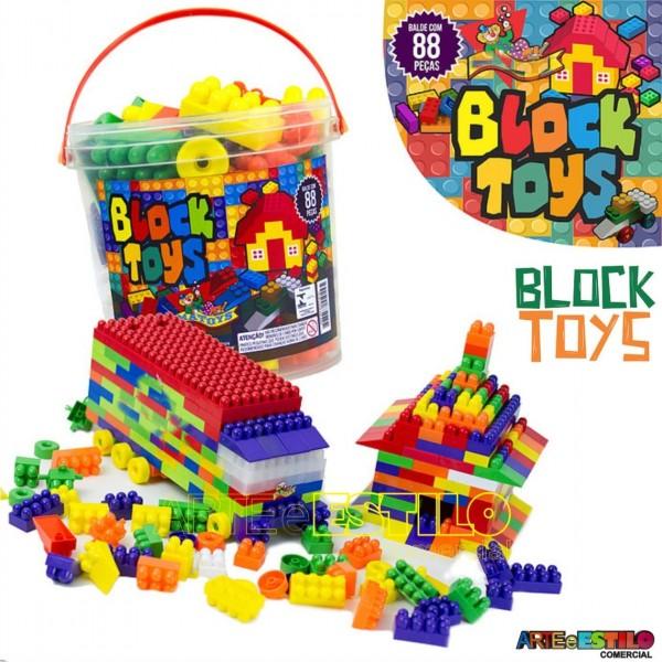 Brinquedo de montar Block Toys Solapa c/ 88 pçs