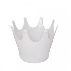 Promoção - 10 Cachepôs Coroa Brancos, Mini vasos Coroa p/decoração de mesa e lembrancinha - R$0,99 cada