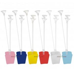 5 Cachepô com Suporte de Balão, mini vasinhos para decoração de mesa e lembrancinha