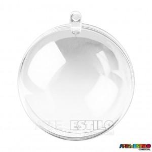 100 Esfera acrílica 6,5 cm de diametro - Bola de Acrílico Transparente