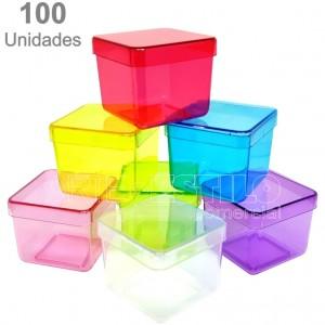 PROMOÇÃO SÓ R$0,59 cada - Emb c/ 100 Caixinhas de Acrílico 5x5X4,5 cm