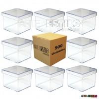 500 Caixinhas de Lembrancinha em Acrílico 5x5x4,5 - Transparentes - Só R$0,48 cada
