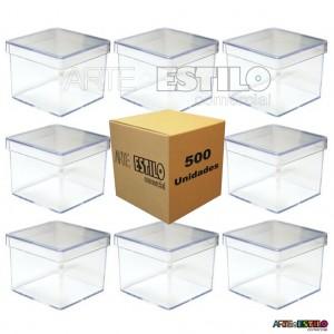 500 Caixinhas de Lembrancinha em Acrílico 5x5x5 - Transparentes - Só R$0,48 cada