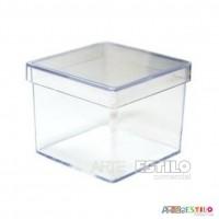 50 Caixinhas de Acrílico Transparente 5X5X4,5 cm para lembrancinhas