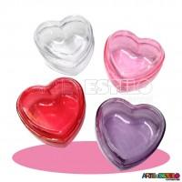 10 Caixinhas Coração em Acrílico 7X7X4
