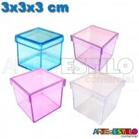10 Caixinhas de Acrílico 3x3x3 Cores Diversas