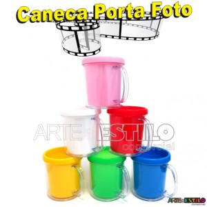 10 Canecas Porta Foto 300 ml para personalizar - Montagem com Rosca muito mais facil de Montar !!!