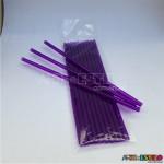 Emb c/ 10 Canudos de Acrílico Roxo cristal - 20 cm