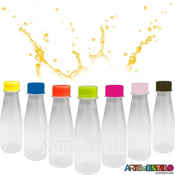 10 Garrafinhas com tampas plasticas em diversas cores Só R$0,99 cada