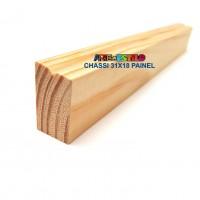 Barra 3 metros de Chassis de Madeira para Painel Perfil 3,1X1,8 cm de Pinus para Painéis de Pintura Impressão