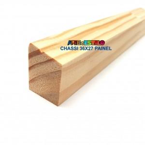 Barra 3 metros de Chassis de Madeira para Painel Perfil 3,6X2,7 cm de Pinus para Painéis de Pintura Impressão
