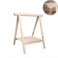01 Cavalete Studio de Madeira para mesa com Prateleira - 75x80 cm