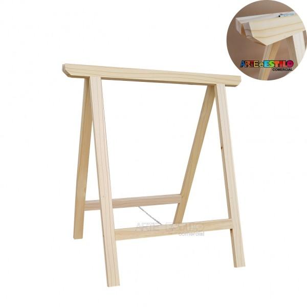 01 Cavalete Studio de Madeira para mesa, bancada, aparador - 75x80 cm