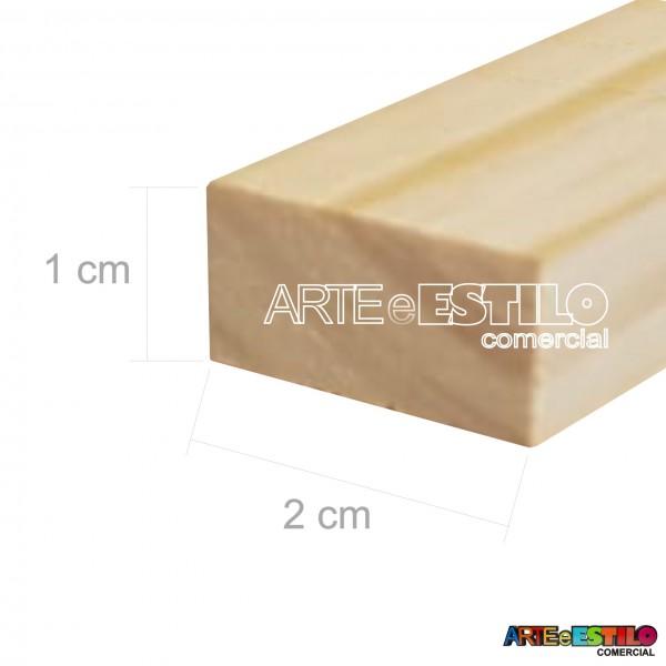 Barra 3 metros de Madeira para Reforço e uso geral Perfil 1,0x2,0 cm em Pinus para Painéis de Pintura Impressão