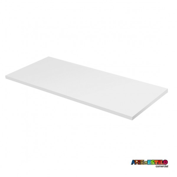 Tampo em MDF Branco para mesa 65x117 cm , home office, escrivaninha para cavaletes 50x80