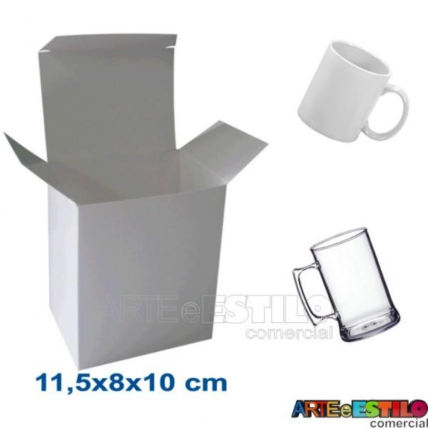 50 Caixas de papelão branco 11,5x8x10cm p/ Canecas e produtos em geral