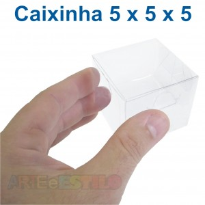 50 Caixas de Acetato 5X5X5 cm - Só R$0,39 cada