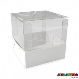 25 Caixas de Acetato e papelão para cupcake medidas 7,5x7,5x7,5 cm