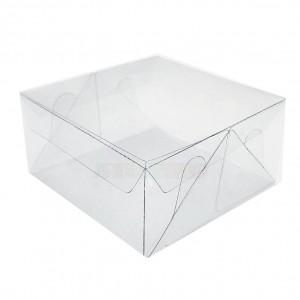 25 Caixas Transparentes medidas 14x14x4 cm