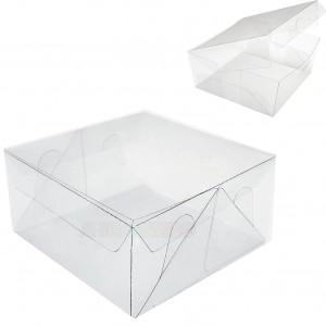 50 Caixas em pet Transparente 12X12X6 cm
