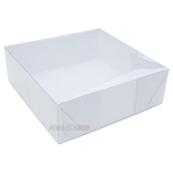 25 Caixas de Acetato 20X20X8 cm com visor para mini bolos, tortas, presentes e montagem de kits