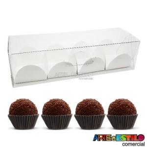 25 Caixas de acetato 15X5X4 cm + 100 Forminhas para doce