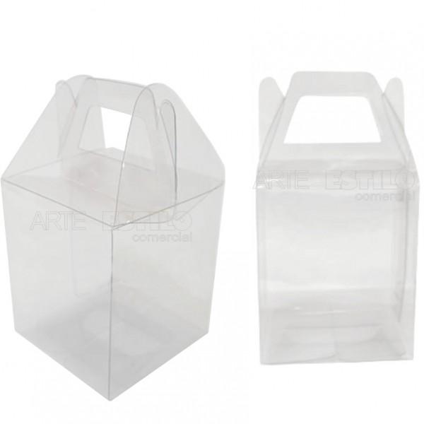 25 Maletinhas de Acetato 9x6,5x4cm para embalagem em geral e lembrancinhas
