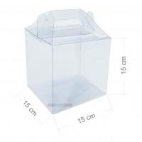 10 Maletinhas de Acetato 15x15x15 cm para embalagem em geral e lembrancinhas