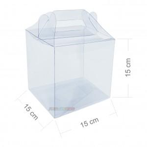 25 Maletinhas de Acetato 15x15x15 cm para embalagem em geral e lembrancinhas