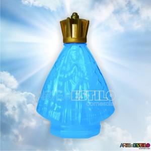 100 Garrafinhas Azul de Nossa Senhora Aparecida 45 ml c/ tampa Corôa