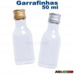 10 Garrafinhas pvc 50 ml com tampa de Metal - Só R$0,49