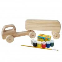 Kit de Pintura Infantil Caminhão tanque Articulado + 06 Tintas e Pincel