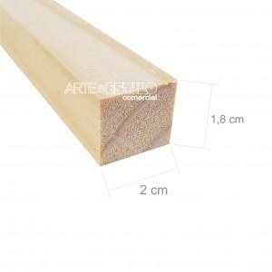 Barra 3 metros de madeira de pinus 2x1,8 cm com comprimento de 3 metros