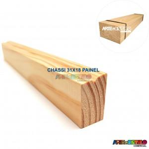 Fardo com 10 barras de 1 metros cada de madeira para Chassis de Painel Perfil 3,1X1,8 cm de Pinus para Painéis de Pintura Impressão