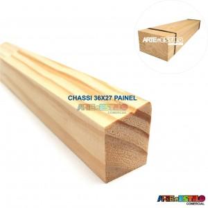Fardo com 10 barras de 1 metros cada de madeira para Chassis de Painel Perfil 3,6X2,7 cm de Pinus para Painéis de Pintura Impressão