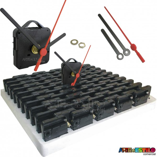 100 Máquinas de relógio QUARTZ eixo 19 (10 mm de rosca) Com alça