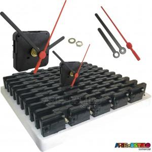 100 Máquinas de relogio QUARTZ (Tic-Tac) eixo 13 (5,5 mm de rosca) Sem alça