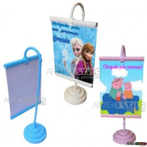 10 unidades - Mini Banner de mesa para personalizar com foto 10X15 - Só R$1,79 cada