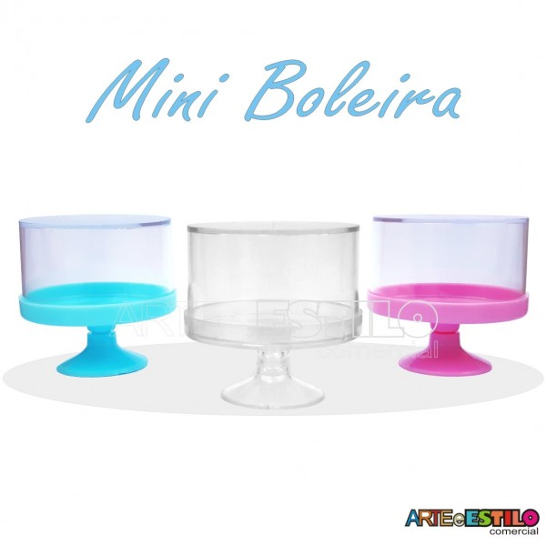 Mini Boleira de Acrilico para bolos e doces - Embalagem c/ 06 - Só R$1,19 cada