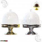 10 Mini Cupula com base Douradas e Prateadas / Redoma de Acrilico - Só R$1,89 cada